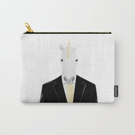 Unicorn in Suit Carry-All Pouch