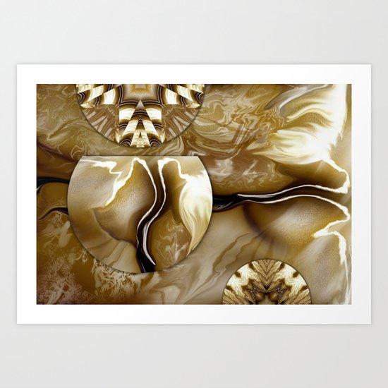 Cream Cirubias Art Print