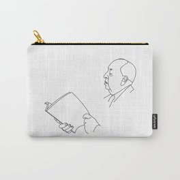 Alfred Hitchcock Minimal Line Drawing Carry-All Pouch