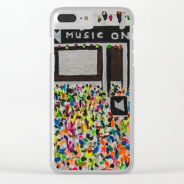 Music On Ibiza Clear iPhone Case