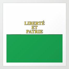Flag of Vaud Art Print