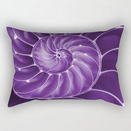 Ultra Violet Chambered Nautilus 2 Rectangular Pillow
