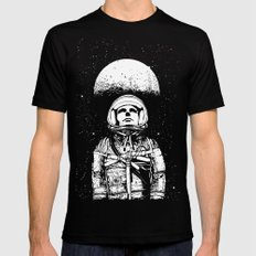 Looking for Space Black Mens Fitted Tee LARGE
