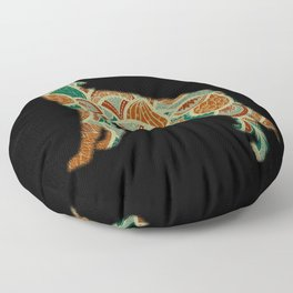 Wolf With Pattern Floor Pillow