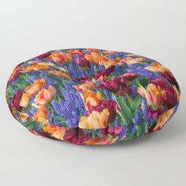 Flowerbed Medley Floor Pillow