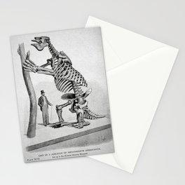 Vintage Dinosaur Poster, 1896 (Megatherium Americanum) Stationery Cards