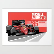 Michele Alboreto - 1985 Nürburgring Art Print