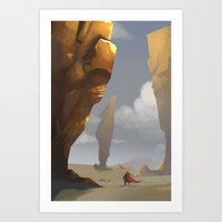 Yellow Pillars Art Print