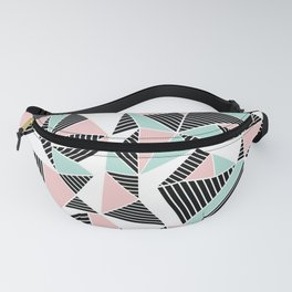 AbLines with Blush Mint Blocks Fanny Pack