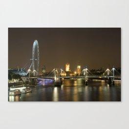 London skyline at night Canvas Print