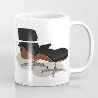 eames Mugs featuring Eames by Arsed