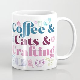 Coffee & Cats & Crafting Coffee Mug