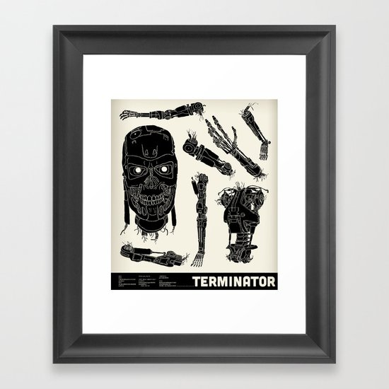 Decommissioned: Terminator  Framed Art Print
