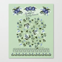 Larkspur Spring Dance Pattern Sampler by Penny Dougherty Canvas Print