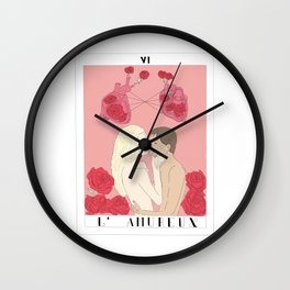 l'amureux - the lovers Wall Clock