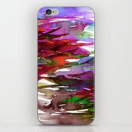 FERVOR 3 Colorful Bold Abstract Autumn Fall Crimson Red Purple Mauve Green Watercolor Painting Art iPhone Skin