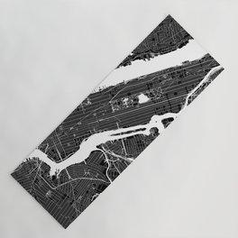 New York City Black And White Map Yoga Mat