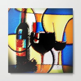 Another Glass of Wine Please Metal Print