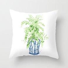 Ginger Jar + Maidenhair Fern Throw Pillow