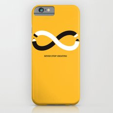 Never stop creating (the infinity pencil) iPhone 6 Slim Case