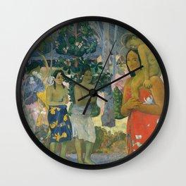 Hail Mary by Paul Gauguin, 1891 Wall Clock