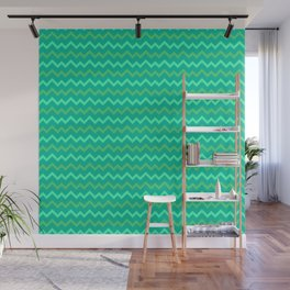 Turquoise dream Abstract pattern Wall Mural