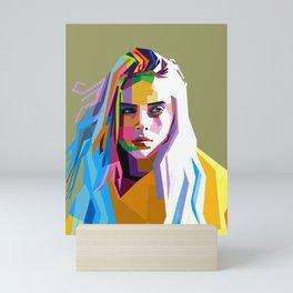Billie Eilish - pop art Mini Art Print