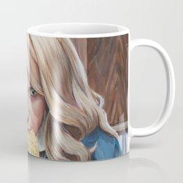 Eleven eats an Eggo - Stranger Painting Things Coffee Mug