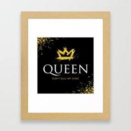 Queen - Don't Dull My Shine Framed Art Print