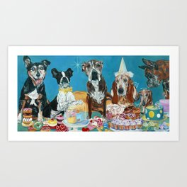 The Last Dessert Dog Portrait Art Print