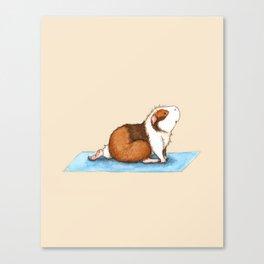 Yoguineas - Lunge Pose Canvas Print