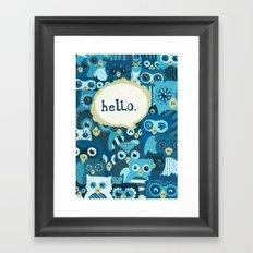 Hellowls Framed Art Print