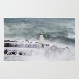 Camogli, the lighthouse in the storm Rug