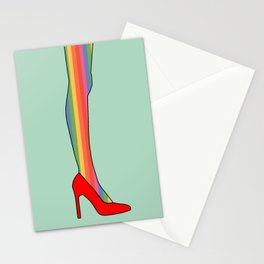 Rainbow Pride Stockings - Red Shoes Stationery Cards