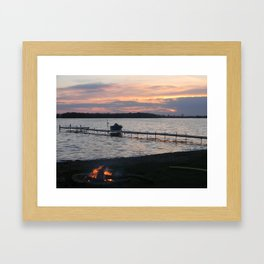 Fire burnin' Framed Art Print