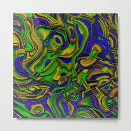 Peppy abstract Art Deco B Metal Print