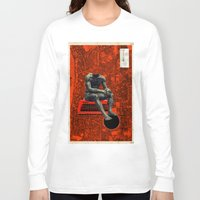 boxer Long Sleeve T-shirts featuring Boxer by Frank Moth