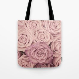 Some People Grumble - Pink Rose Pattern - Roses Tote Bag