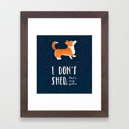 Corgi Glitter - Pembroke Welsh Corgi Framed Art Print
