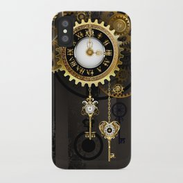 Antique Clock with Keys ( Steampunk ) iPhone Case