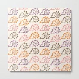 Pastel Marine Pattern 12 Metal Print