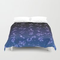 constellation Duvet Covers featuring CONSTELLATION by CLUB GALAXY