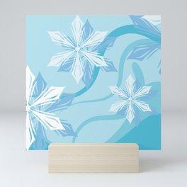 The Art Winter Blue Flower Mini Art Print