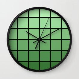 Faded Green Wall Clock