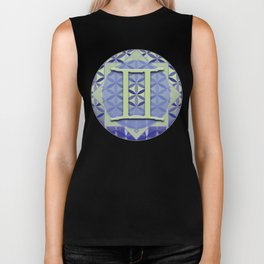 Gemini Flower of Life Astrology Design by Debra Cortese Designs Biker Tank