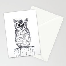 Waiting owl Stationery Cards