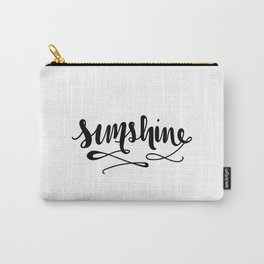 Sunshine Lettering Carry-All Pouch