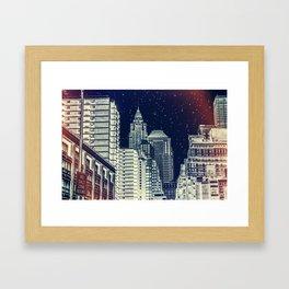 New York. Gotham City. Framed Art Print