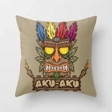 Aku-Aku (Crash Bandicoot) Throw Pillow