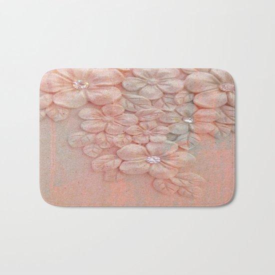 Painterly Floral Gem Abstract Bath Mat